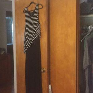 Dresses & Skirts - Style & Co. black, black/stripe maxi dress